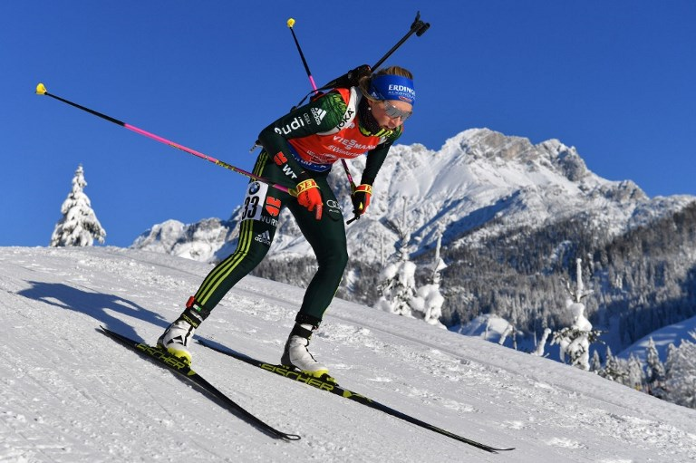 IBU Biathlon World Cup in Hochfilzen 7.5 km sprint of women.
